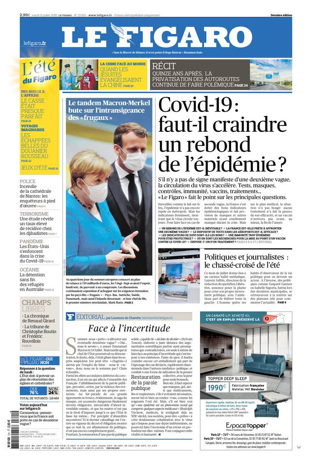 Le Figaro du 21 juillet 2020