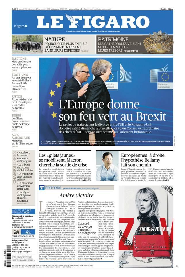 Le Figaro du 24 novembre 2018