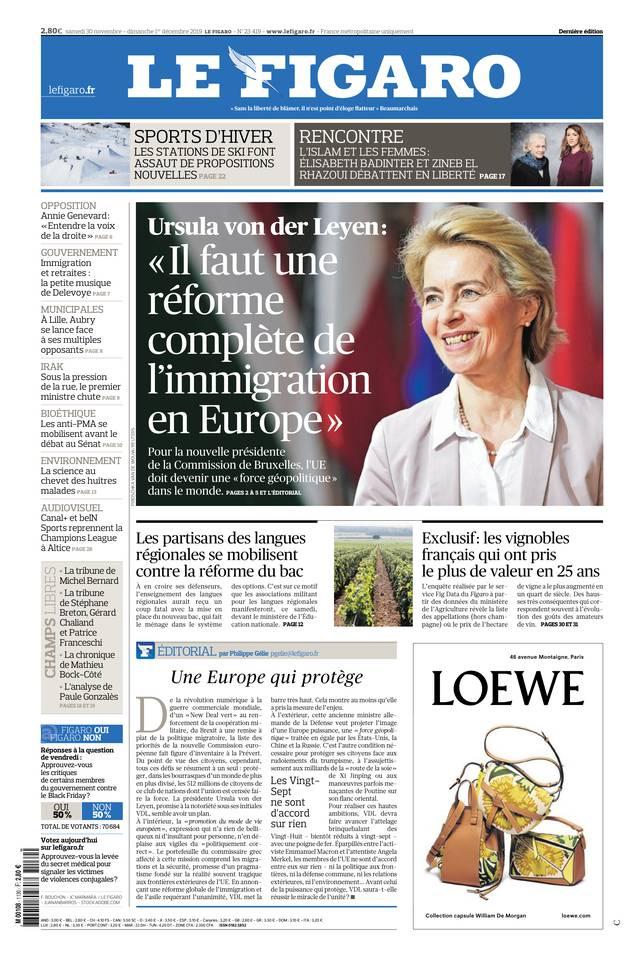 Le Figaro du 30 novembre 2019