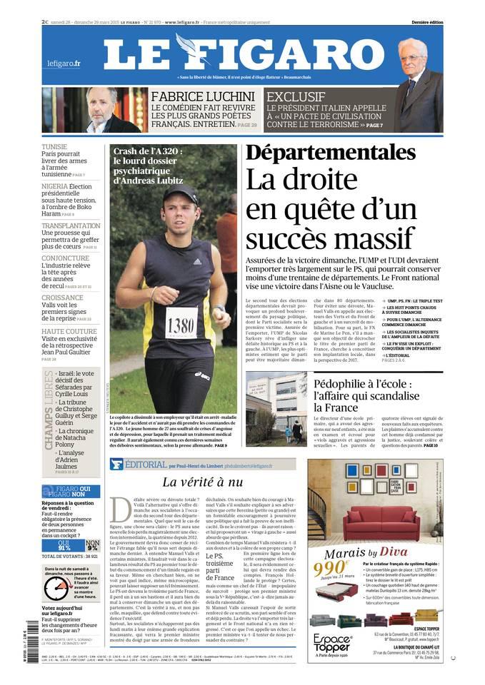 Le Figaro du 28 mars 2015