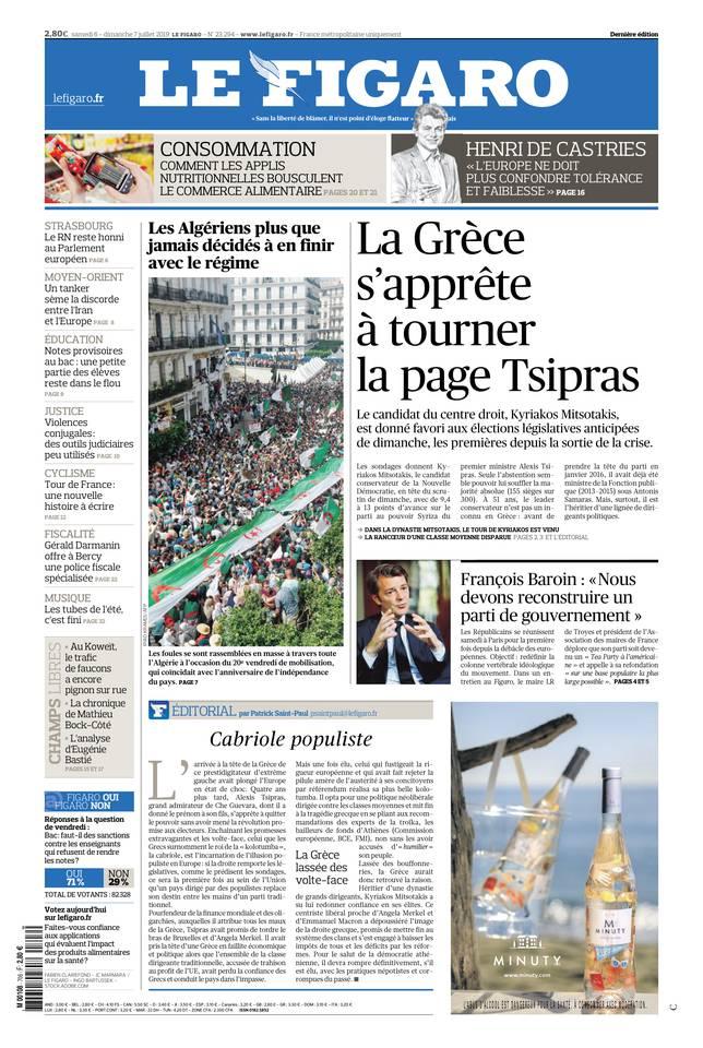 Le Figaro du 06 juillet 2019