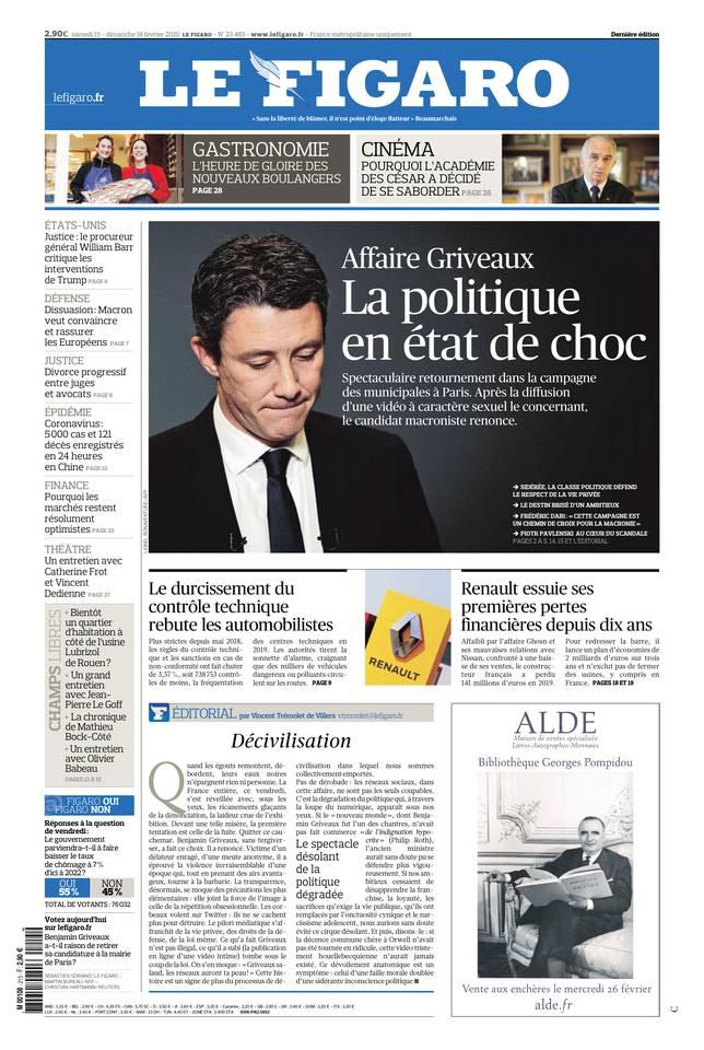 Le Figaro du 15 février 2020