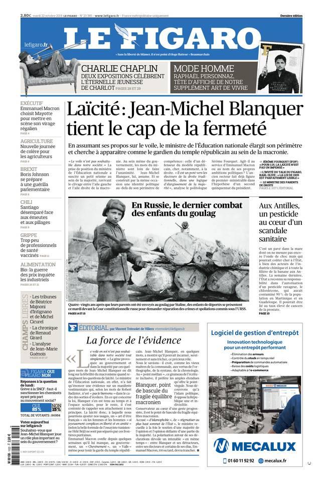 Le Figaro du 22 octobre 2019