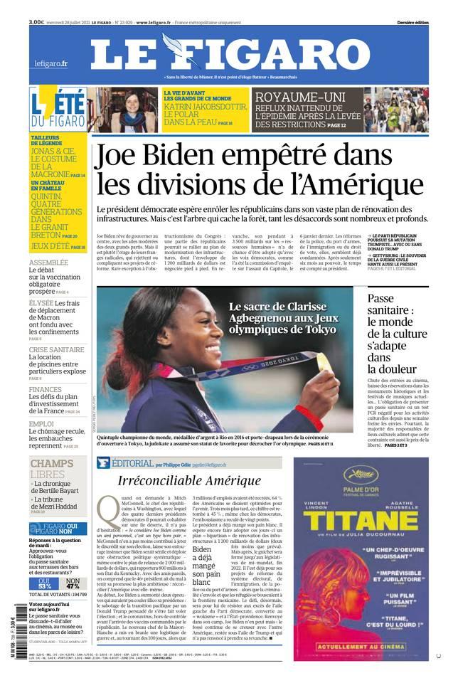Le Figaro du 28 juillet 2021