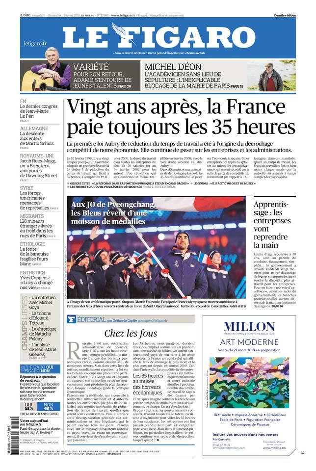 Le Figaro du 10 février 2018