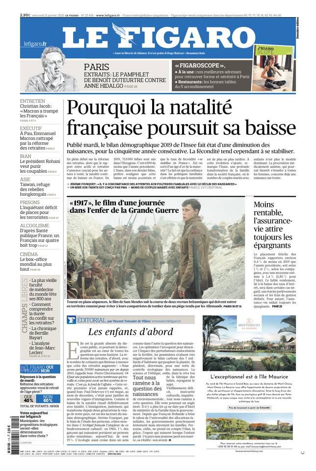 Le Figaro du 15 janvier 2020