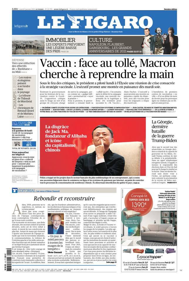 Le Figaro du 05 janvier 2021