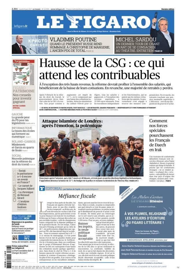 Le Figaro du 06 juin 2017