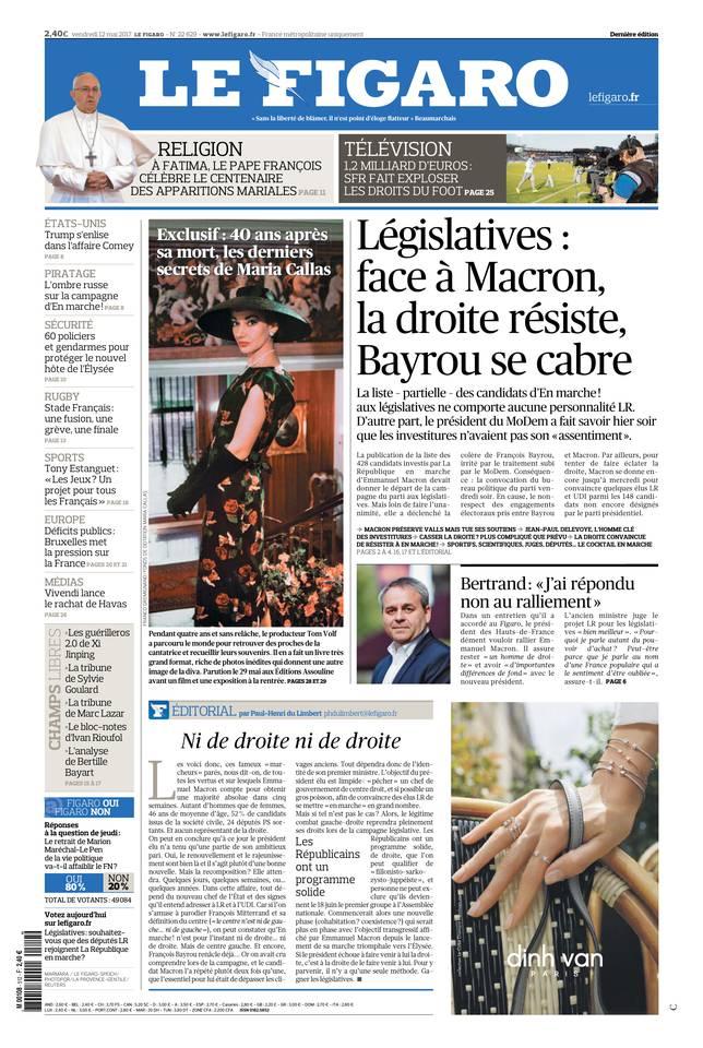 Le Figaro du 12 mai 2017