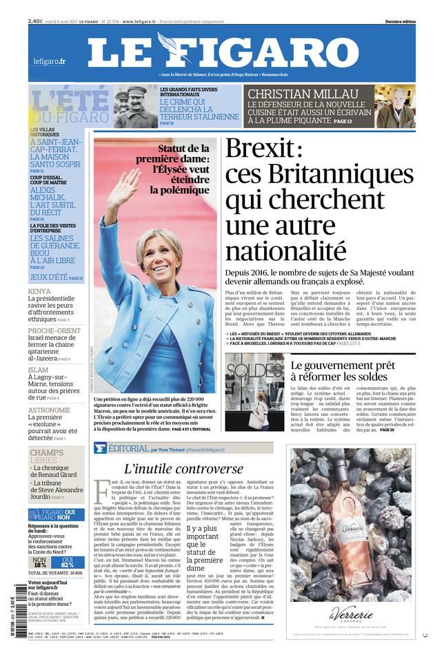 Le Figaro du 08 août 2017