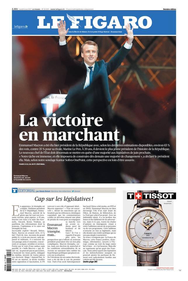 Le Figaro du 08 mai 2017