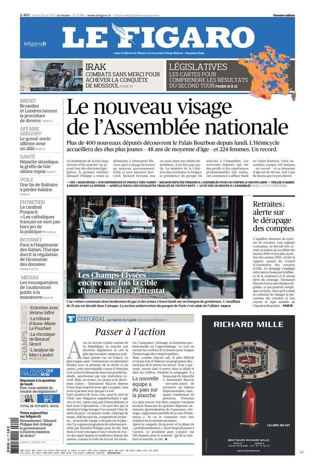 Le Figaro du 20 juin 2017
