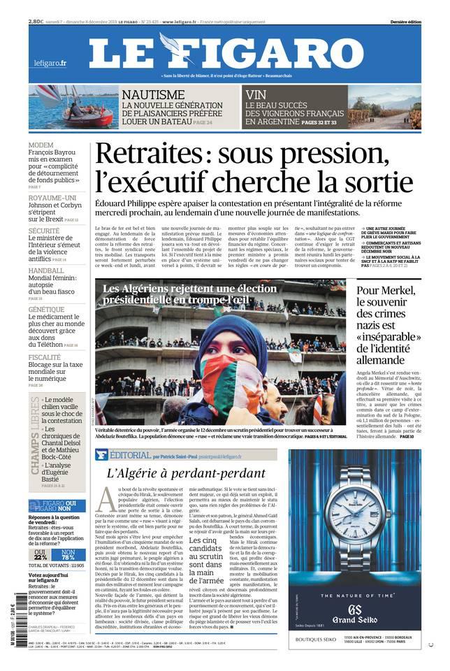 Le Figaro du 07 décembre 2019