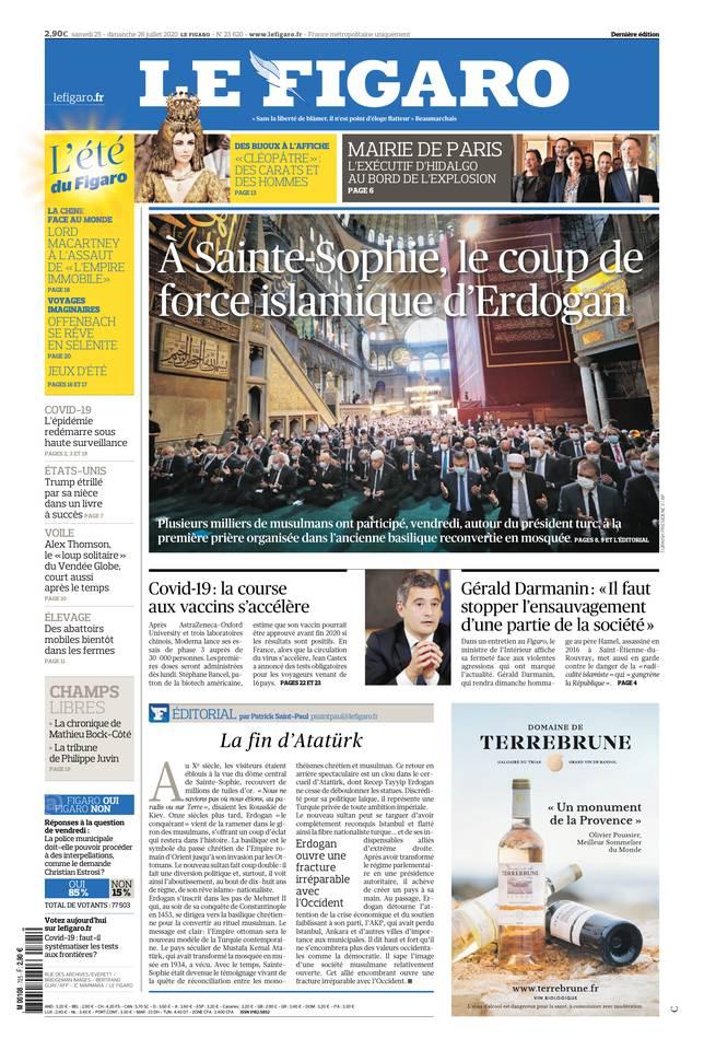 Le Figaro du 25 juillet 2020