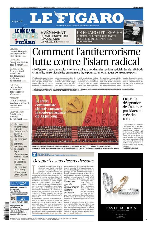 Le Figaro du 26 octobre 2017