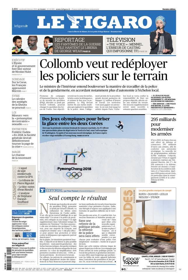 Le Figaro du 09 février 2018