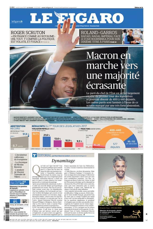 Le Figaro du 12 juin 2017