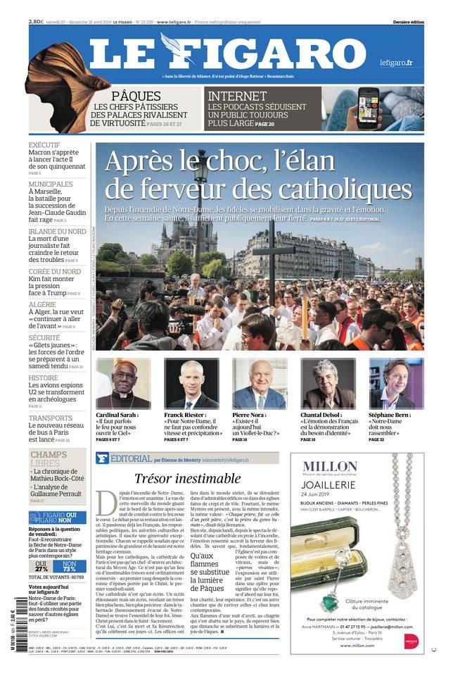 Le Figaro du 20 avril 2019