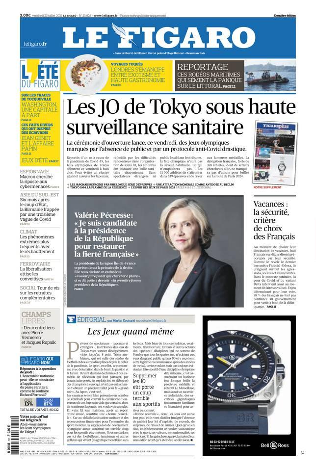 Le Figaro du 23 juillet 2021