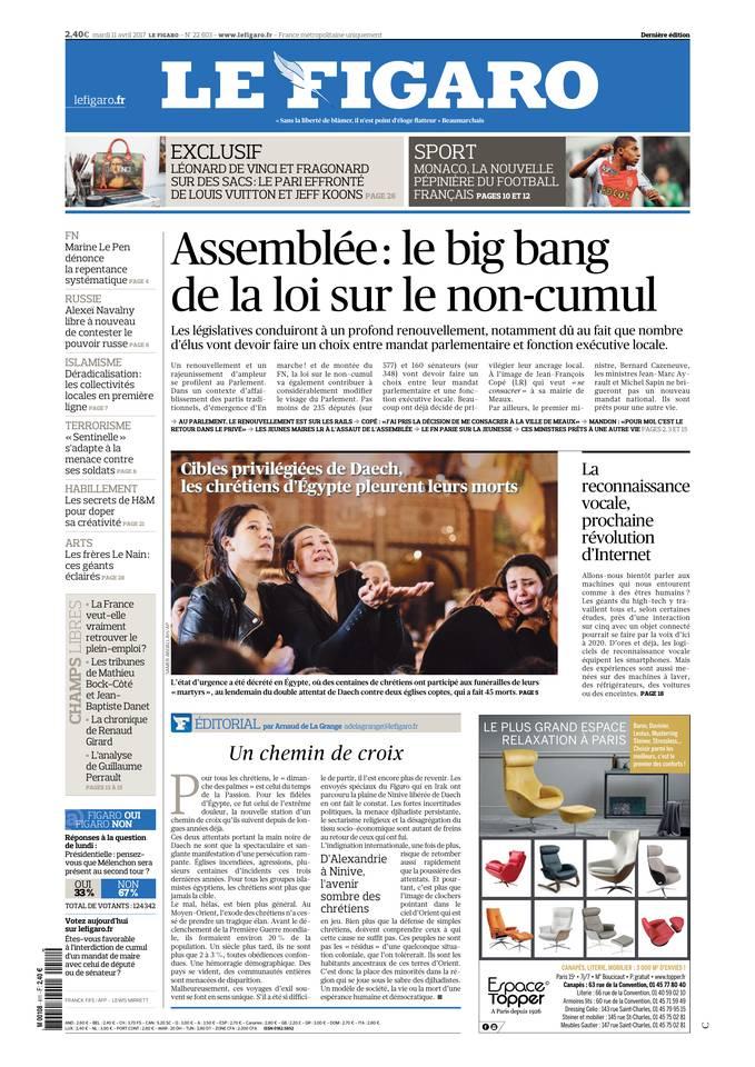 Le Figaro du 11 avril 2017