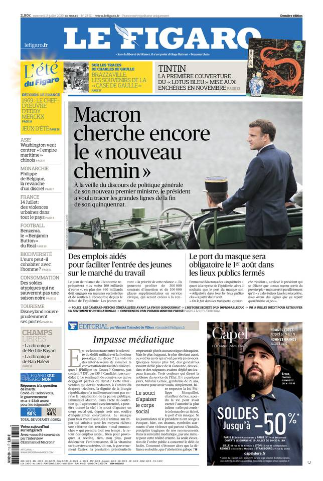 Le Figaro du 15 juillet 2020