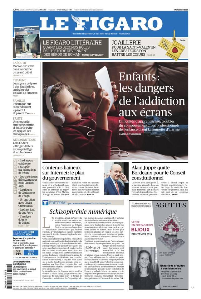 Le Figaro du 14 février 2019