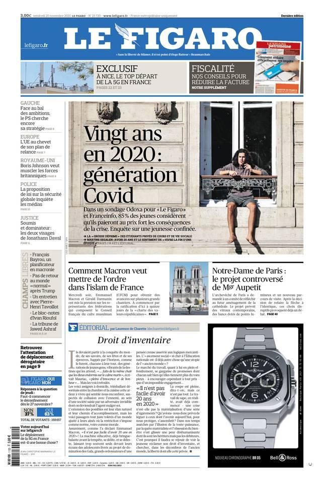 Le Figaro du 20 novembre 2020