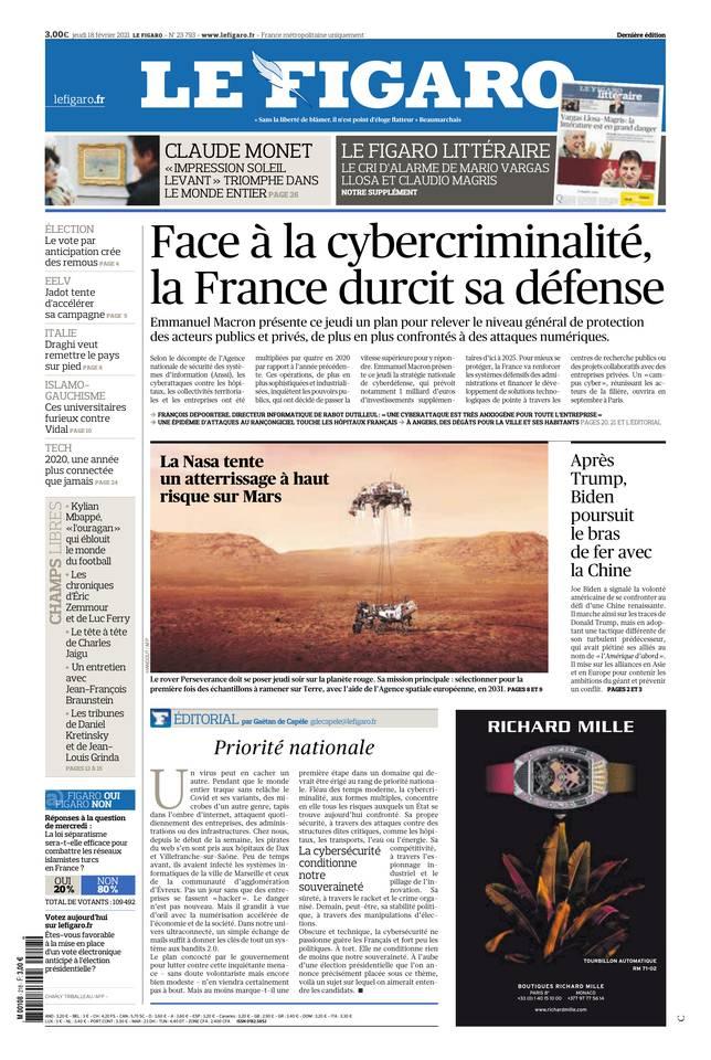 Le Figaro du 18 février 2021