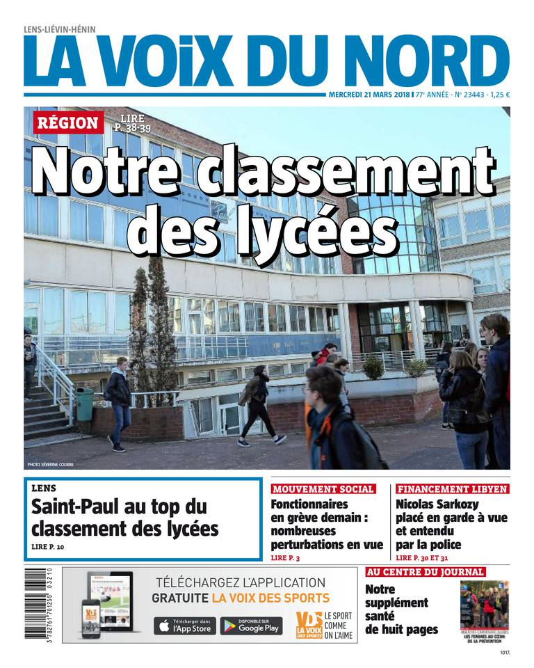 21 mars 2018 la voix du nord sfr presse. Black Bedroom Furniture Sets. Home Design Ideas