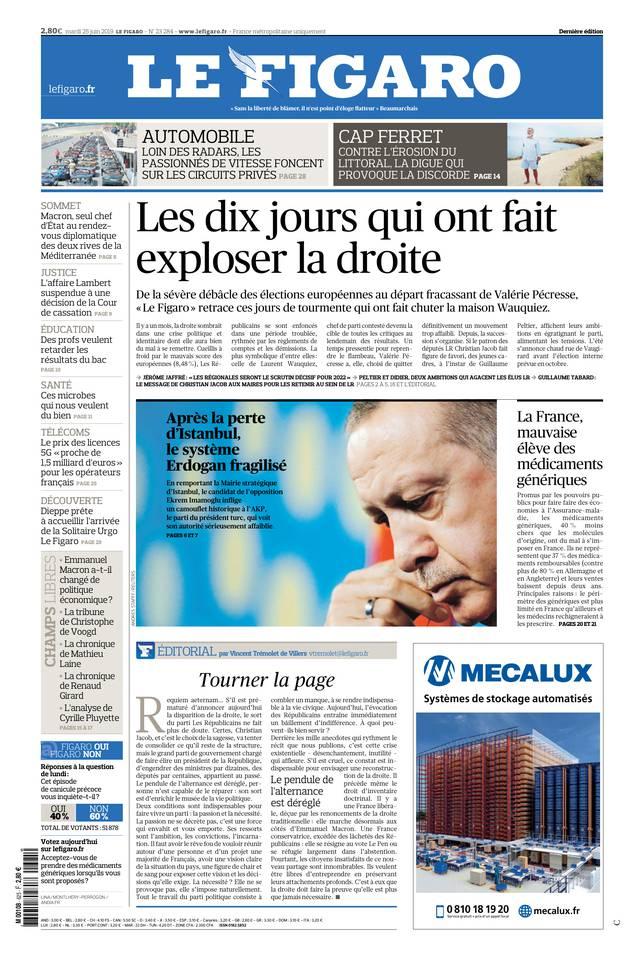 Le Figaro du 25 juin 2019