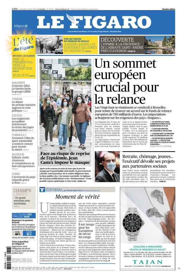 Le Figaro du 17 juillet 2020