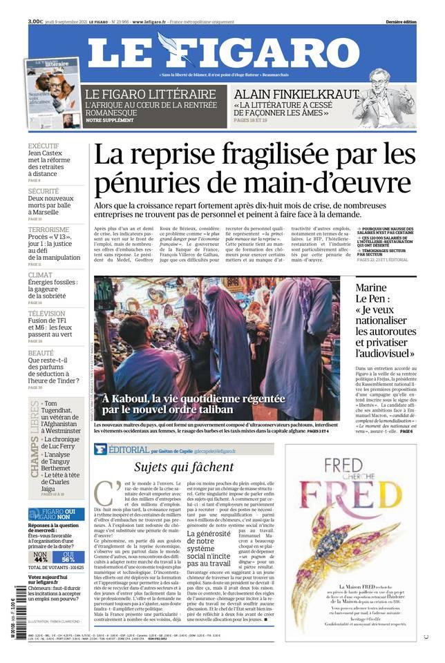 Le Figaro du 09 septembre 2021