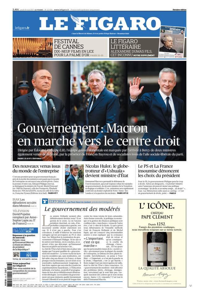 Le Figaro du 18 mai 2017