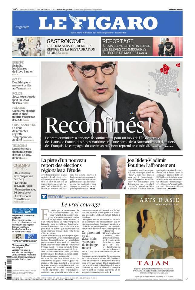 Le Figaro du 19 mars 2021