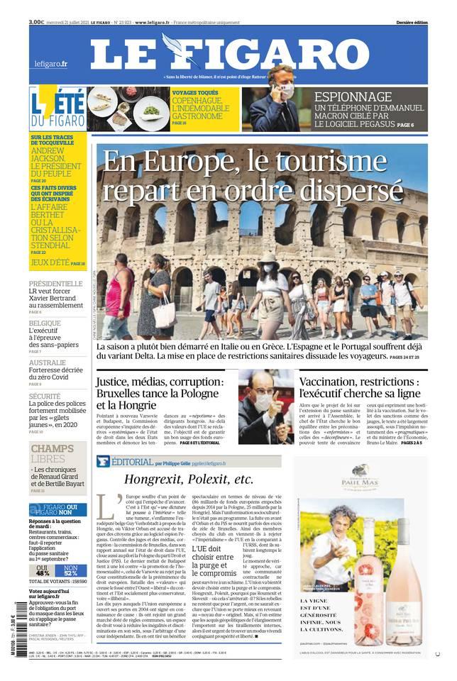Le Figaro du 21 juillet 2021