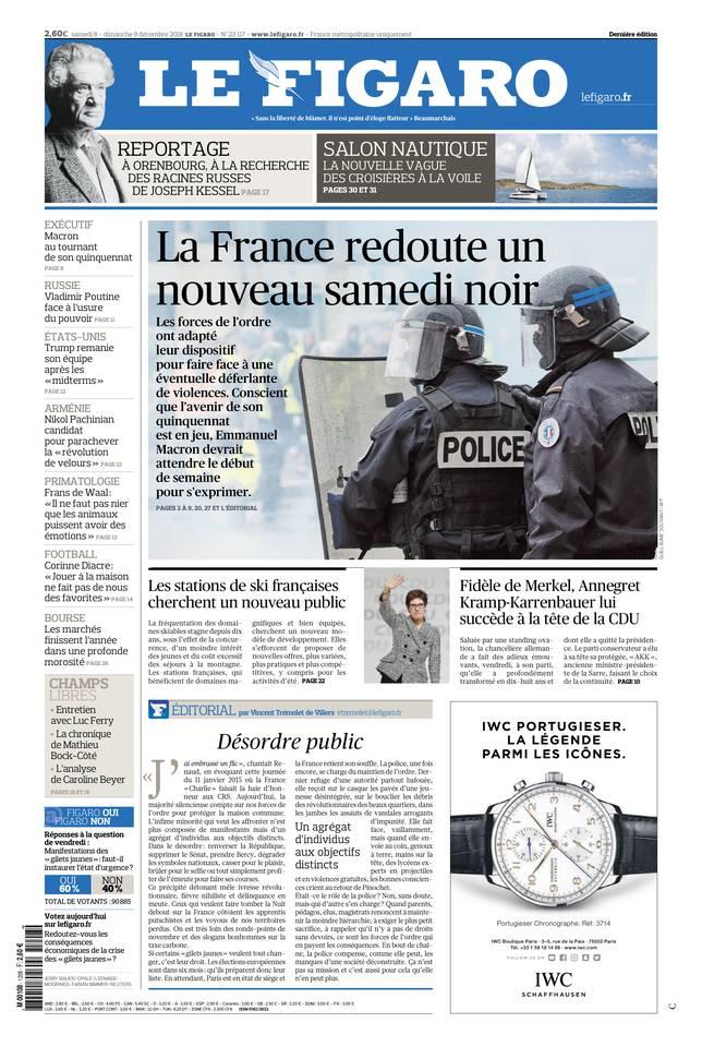 Le Figaro du 08 décembre 2018