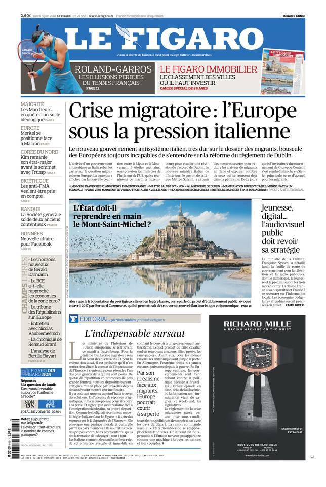 Le Figaro du 05 juin 2018