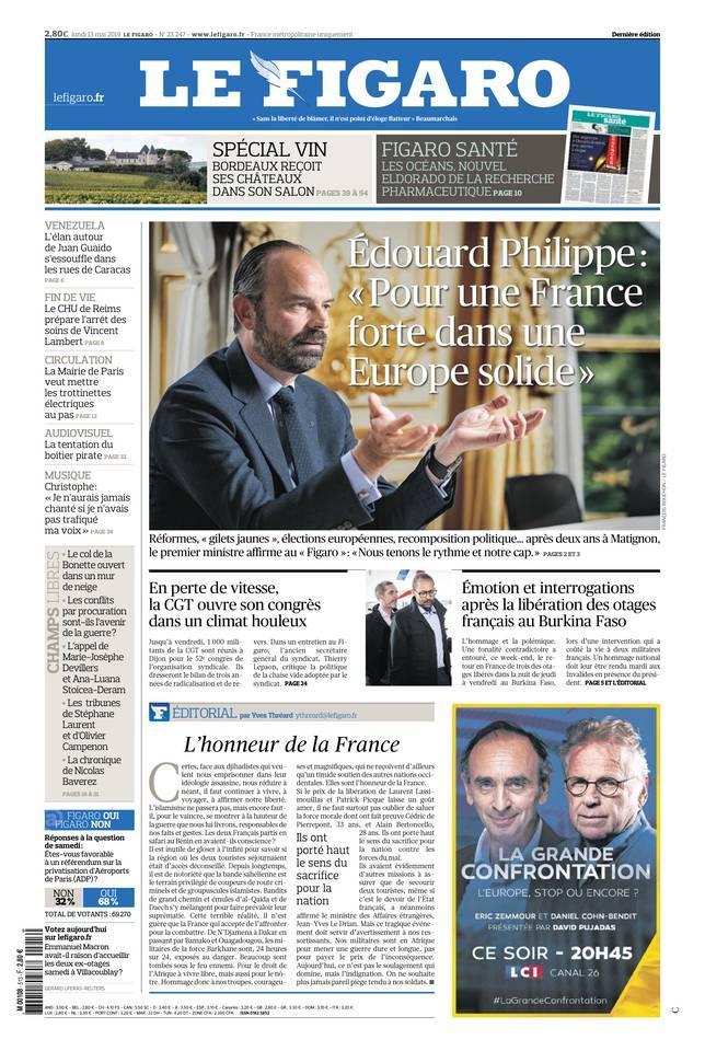 Le Figaro du 13 mai 2019