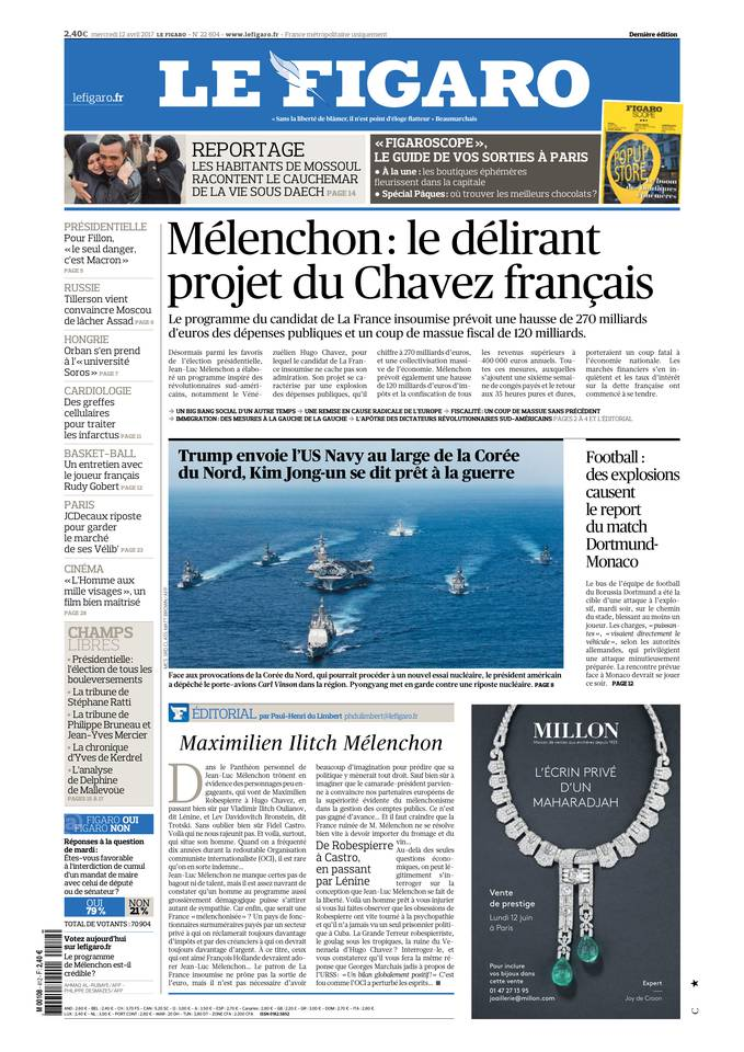 Le Figaro du 12 avril 2017