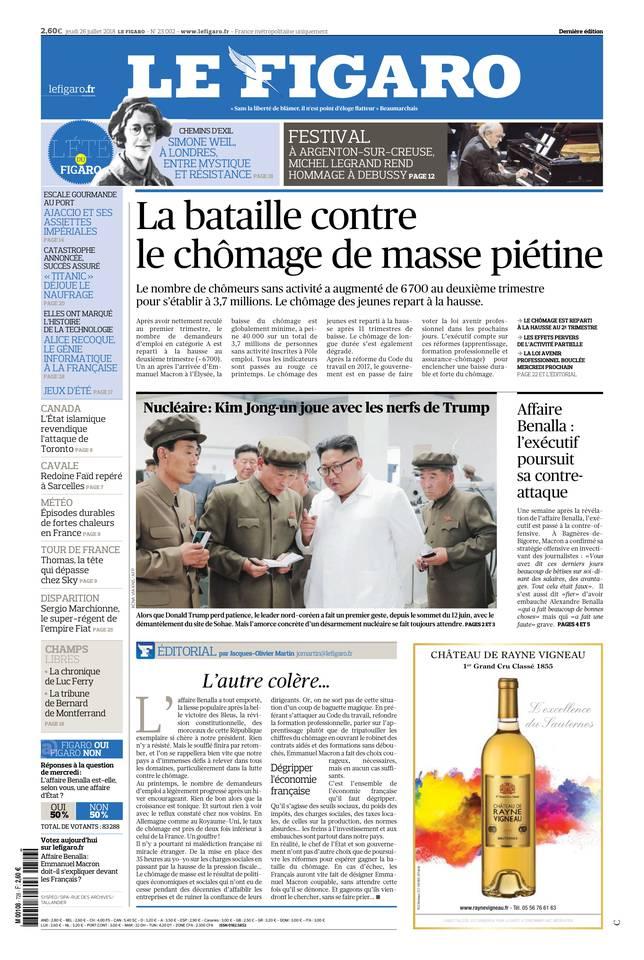 Le Figaro du 26 juillet 2018