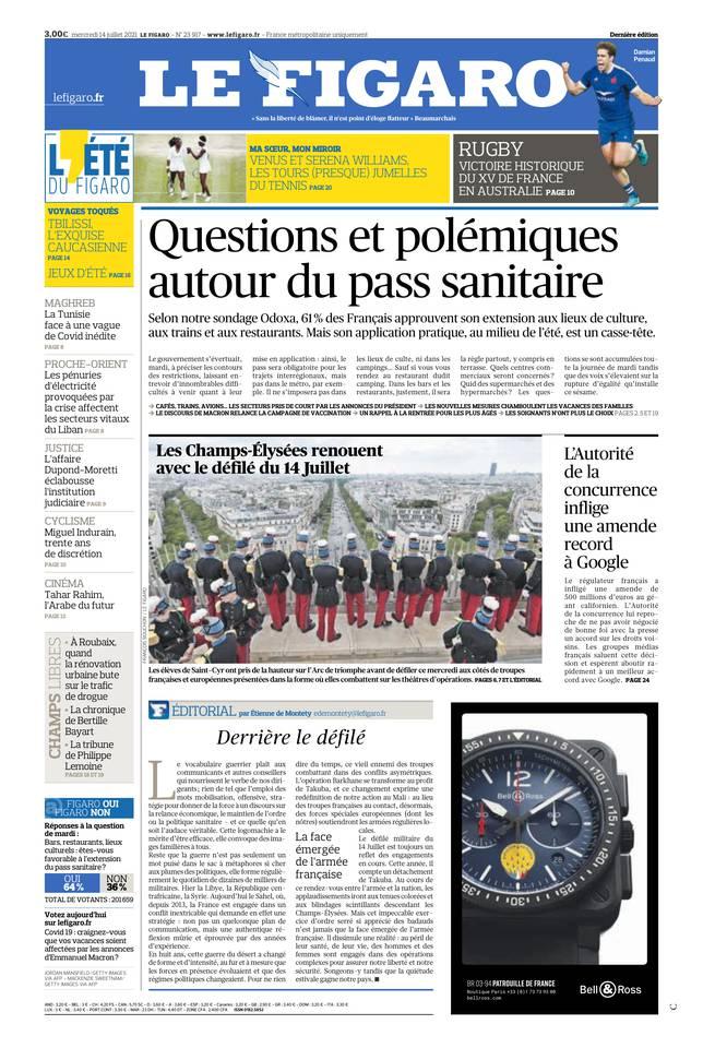 Le Figaro du 14 juillet 2021