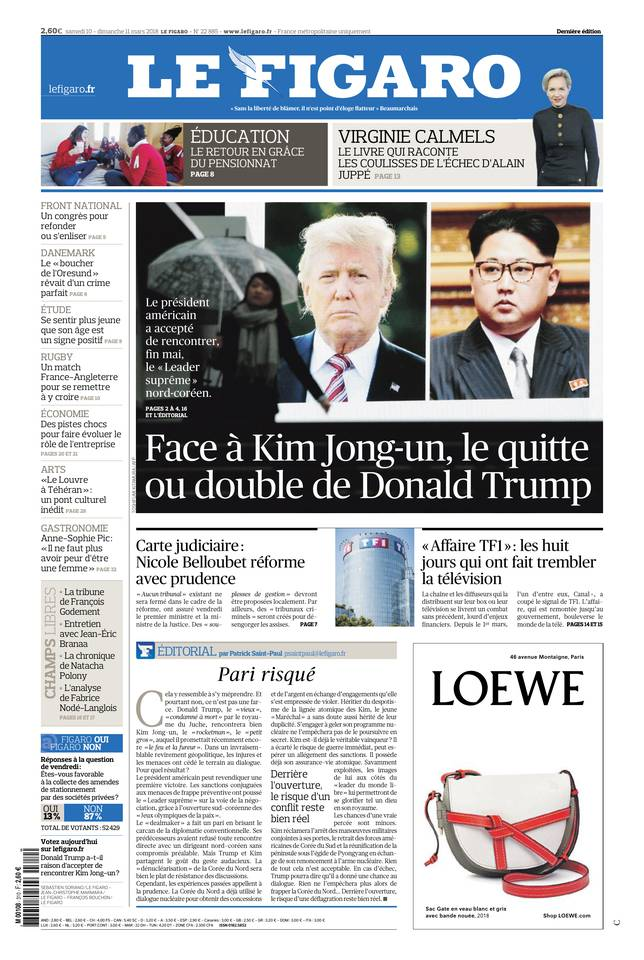 Le Figaro du 10 mars 2018