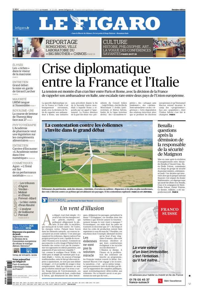 Le Figaro du 08 février 2019