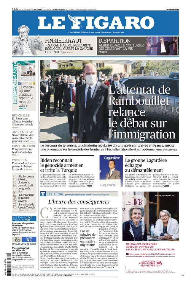 Le Figaro du 26 avril 2021