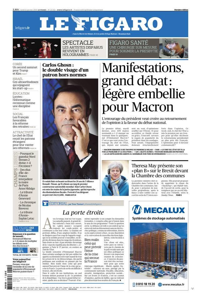 Le Figaro du 21 janvier 2019