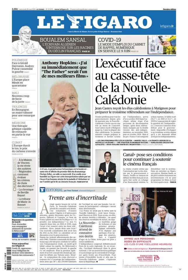 Le Figaro du 26 mai 2021