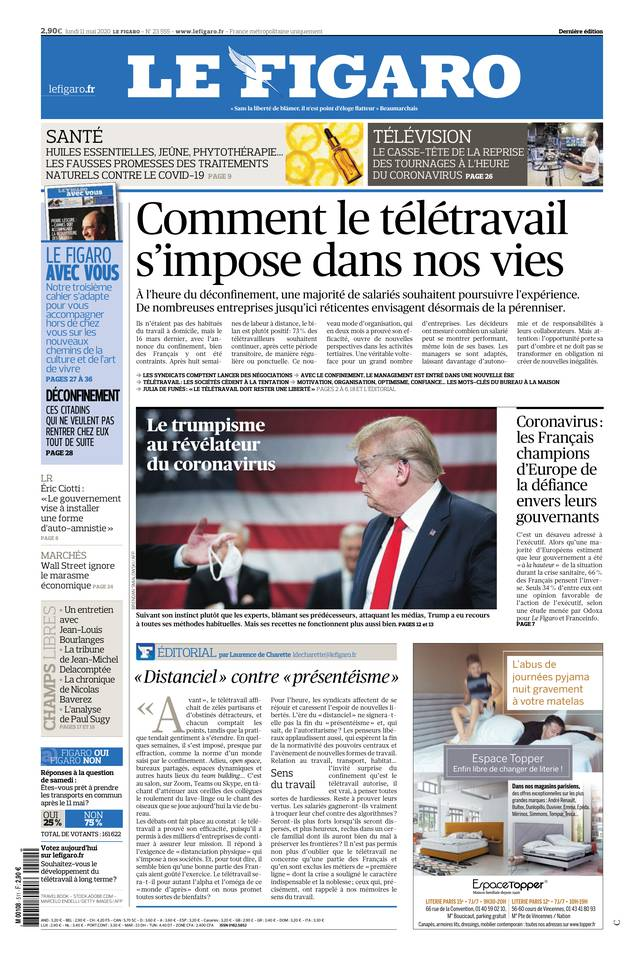 Le Figaro du 11 mai 2020