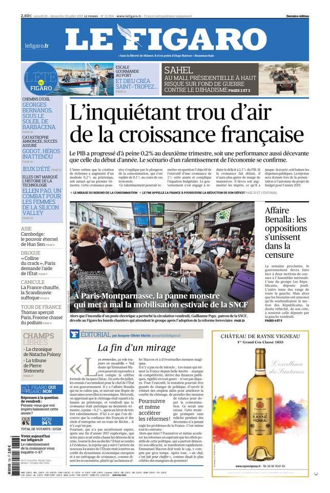 Le Figaro du 28 juillet 2018