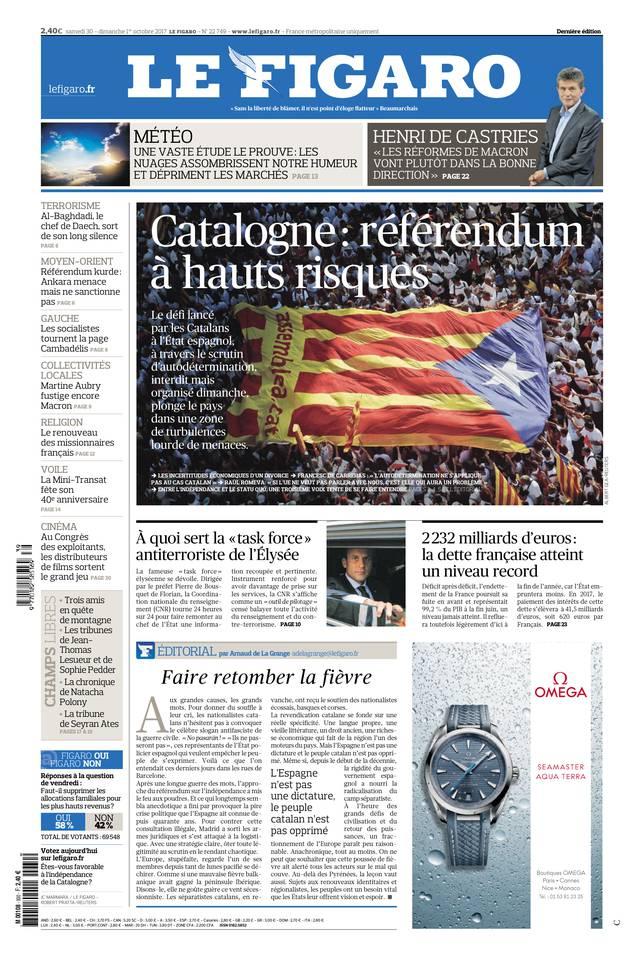 Le Figaro du 30 septembre 2017