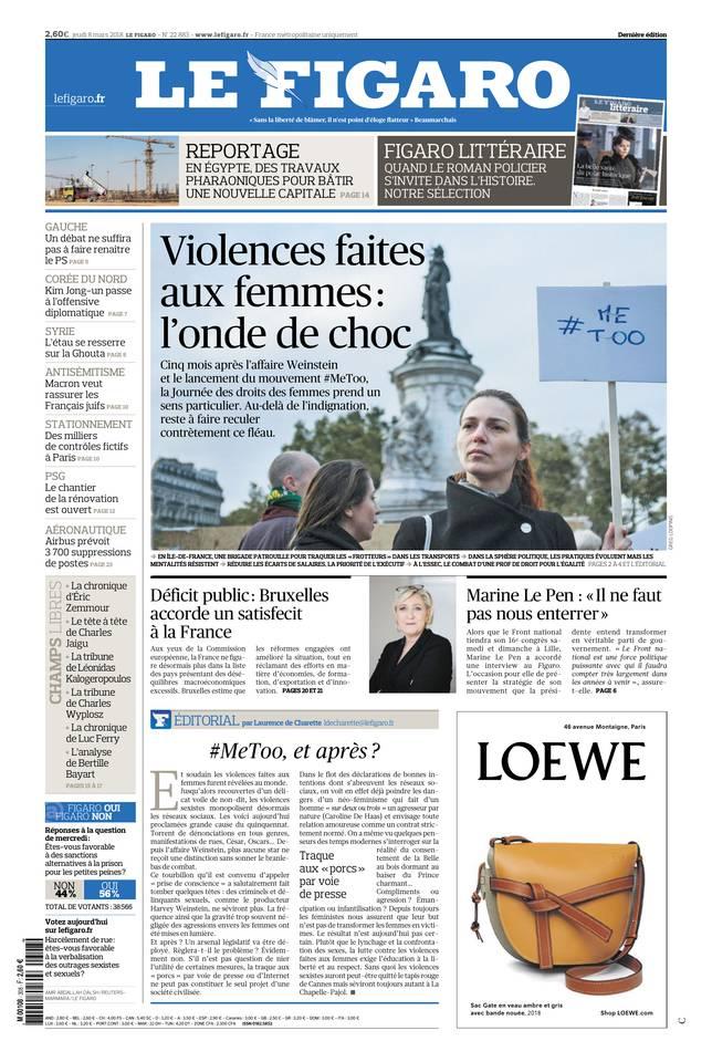 Le Figaro du 08 mars 2018